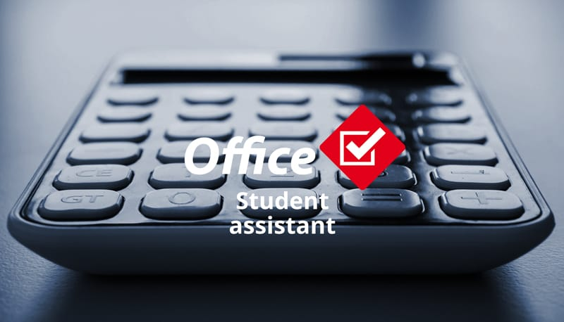 Your application as office student assistant
